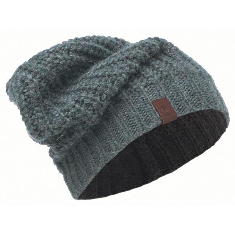 Buff Warme Merino-M/ütze Stripes f/ür Erwachsene Grau Loose fit