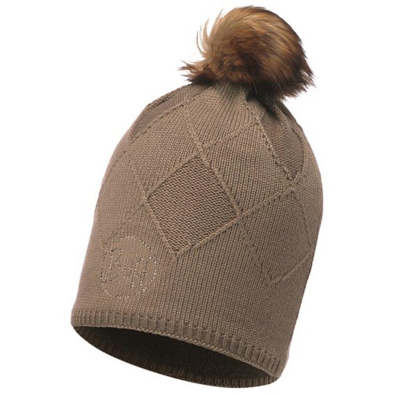 Warme Merino-M/ütze Stripes f/ür Erwachsene Loose fit Buff Grau